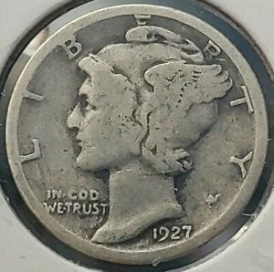 CIRCULATED 1927 P MERCURY SILVER  DIME