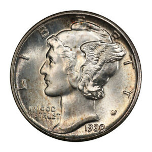 1930 10C MERCURY DIME PCGS MS67FB 3099 8