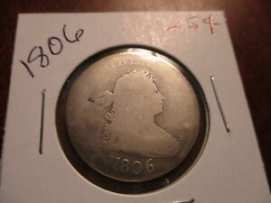 1806 DRAPED BUST QUARTER  TYPE COIN FULL BOLD DATE