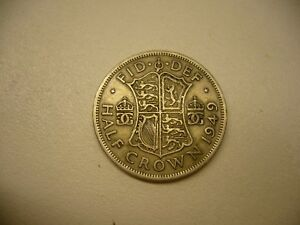1948 OR 1949 HALF CROWN GREAT BRITAIN KING GEORGE COIN YOUR HOICE OF EITHER