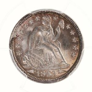 Click now to see the BUY IT NOW Price! 1853 SEATED LIBERTY 10C PCGS CAC CERTIFIED MS65  WITH ARROWS PREMIUM QUALITY
