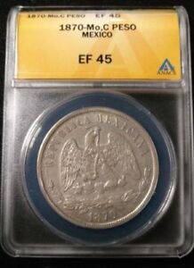 Click now to see the BUY IT NOW Price! MEXICO   1 PESO 1870 MO ANACS EF45