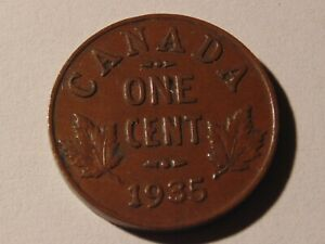 VERY NICE COIN 1935 CANADA PENNY WOW