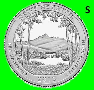 2013 S WHITE MOUNTAIN QUARTER NATIONAL PARK ATB SAN FRAN   UNC 2ND DARK TONED