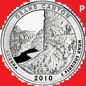 2010 P QUARTER GRAND CANYON AZ NATIONAL PARK ATB PHILADELPHIA    UNC 2ND