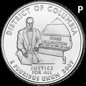 2009 P DISTRIC OF COLUMBIA QUARTER DC & US TERRITORY STATE  UNC UNCIRCULATED 2ND