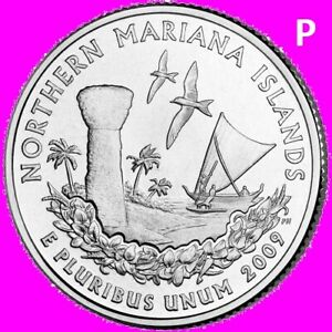 2009 P NORTHERN MARIANA ISLANDS QUARTER DC & US TERRITORY STATEHOOD    UNC  2ND
