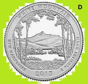 2013 D QUARTER WHITE MOUNTAIN NATIONAL PARK  ATB   UNC 2ND    BUY 1  SAVE 10