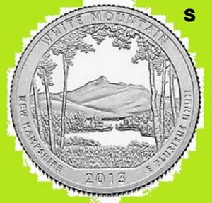 2013 P QUARTER WHITE MOUNTAIN NATIONAL PARK  ATB  UNC  2ND   BUY 1  SAVE 10