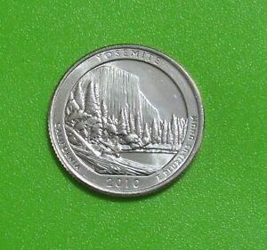 2010 D 25C YOSEMITE CALIFORNIA NATIONAL PARKS AMERICA THE BEAUTIFUL QUARTER