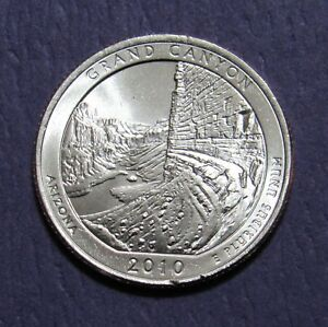 2010 P 25C GRAND CANYON ARIZONA NATIONAL PARKS AMERICA THE BEAUTIFUL QUARTER