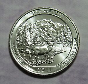 2011 D 25C OLYMPIC WASHINGTON NATIONAL PARKS AMERICA THE BEAUTIFUL QUARTER