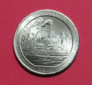 2011 D 25C VICKSBURG MISSISSIPPI NATIONAL PARKS AMERICA THE BEAUTIFUL QUARTER