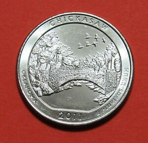 2011 P 25C CHICKASAW OKLAHOMA NATIONAL PARKS AMERICA THE BEAUTIFUL QUARTER