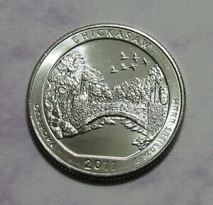 2011 D 25C CHICKASAW OKLAHOMA NATIONAL PARKS AMERICA THE BEAUTIFUL QUARTER