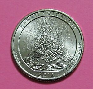 2012 P 25C HAWAII VOLCANOES HAWAII NATIONAL PARKS AMERICA THE BEAUTIFUL QUARTER