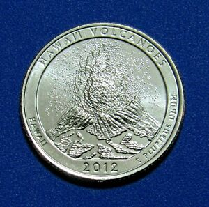 2012 D 25C HAWAII VOLCANOES NATIONAL PARKS AMERICA THE BEAUTIFUL QUARTER