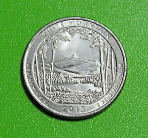 2013 P 25C WHITE MOUNTAIN  NEW HAMPSHIRE  NP AMERICA THE BEAUTIFUL QUARTER
