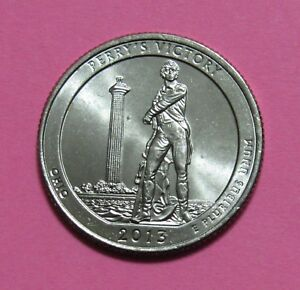 2013 P 25C PERRY'S VICTORY NATIONAL PARKS AMERICA THE BEAUTIFUL QUARTER