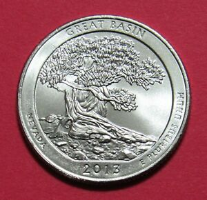 2013 P 25C GREAT BASIN NEVADA NATIONAL PARKS AMERICA THE BEAUTIFUL QUARTER
