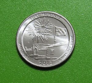 2013 D 25C FORT MCHENRY MARYLAND NATIONAL PARKS AMERICA THE BEAUTIFUL QUARTER