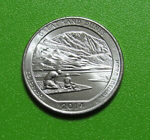 2014 P 25C GREAT SAND DUNES COLORADO NATIONAL PARKS AMERICA BEAUTIFUL QUARTER