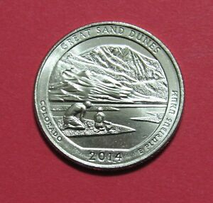 2014 D 25C GREAT SAND DUNES COLORADO NATIONAL PARKS AMERICA BEAUTIFUL QUARTER