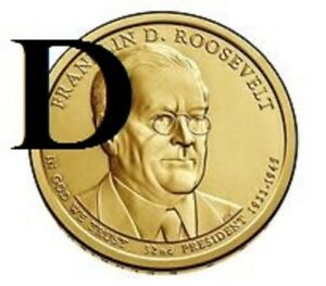 2014 D 32ND FRANKLIN D ROOSEVELT  PRESIDENTIAL U.S. ONE DOLLAR COIN