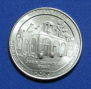 2016 P 25C HARPERS FERRY WEST VIRGINIA NATIONAL PARKS AMERICA THE BEAUTIFUL QTR
