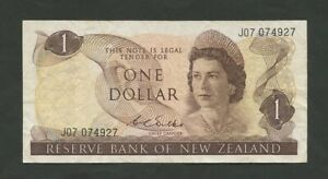NEW ZEALAND  QEII  $1  1968  P163B  ABOUT FINE  BANKNOTES