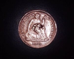 1864 S SEATED LIBERTY HALF DIME
