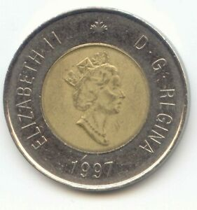 CANADA 1997 TWO DOLLAR CANADIAN TOONIE TWOONIE $2 DOLLARS EXACT COIN