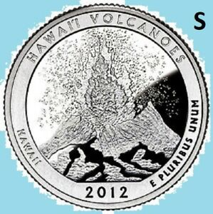 2012 S QUARTER HAWAII NATIONAL PARK ATB SAN FRANCISCO   UNC UNCIRCULATED 2ND