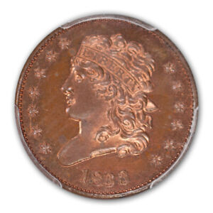Click now to see the BUY IT NOW Price! 1833 1/2C CLASSIC HEAD HALF CENT PCGS PR65RB  CAC