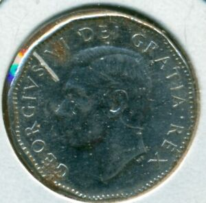 1951 CANADA FIVE CENTS ALMOST UNCIRCULATED GREAT PRICE