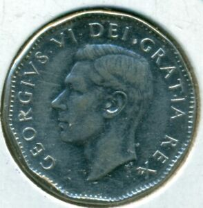 1951 CANADA FIVE CENTS CHOICE ALMOST UNCIRCULATED GREAT PRICE