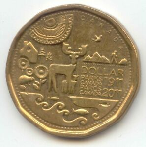 CANADA 2011 LOONIE PARKS COMMEMORATIVE CANADIAN ONE DOLLAR 1 $1 EXACT COIN SHOWN