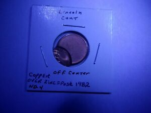 1??? ? MINT LINCOLN CENT ERROR WAY OFF CENTER OR BROADSTRIKE   BU RED