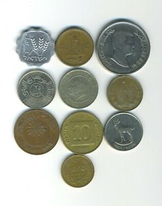 MIDDLE EAST   LOT OF 10 DIFFERENT COINS   GREAT STARTER   LOT ME 47