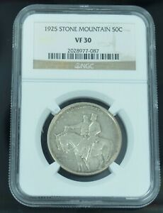 1925 STONE MOUNTAIN COMMEMORATIVE 50C HALF DOLLAR NGC VF30