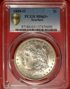 Click now to see the BUY IT NOW Price! SCARFACE 1888 O $1 PCGS MS63  CHOICE UNCIRCULATED MORGAN DOLLAR VAM 1B POP 8/4