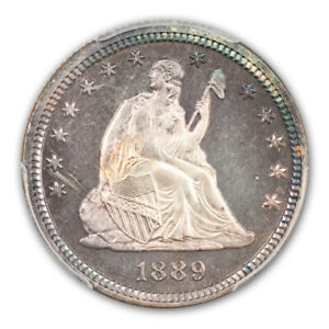 Click now to see the BUY IT NOW Price! 1889 25C LIBERTY SEATED QUARTER PCGS PR68  CAC