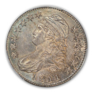 Click now to see the BUY IT NOW Price! 1811 50C SMALL 8 CAPPED BUST HALF DOLLAR PCGS MS65