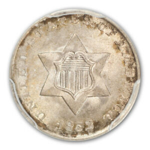 Click now to see the BUY IT NOW Price! 1852 3CS THREE CENT SILVER PCGS MS67