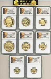 Click now to see the BUY IT NOW Price! 2008 W PROOF AND BURNISHED GOLD BUFFALO SETS NGC 70'S EARLY RELEASES 8 COIN SET