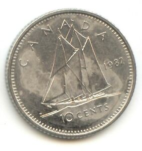 CANADA 1982 DIME CANADIAN 10 CENT PIECE 10C TEN CENTS EXACT COIN SHOWN