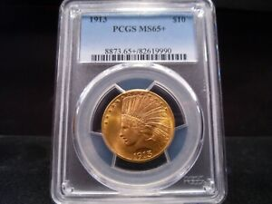 Click now to see the BUY IT NOW Price! 1913 MS65   PLUS  INDIAN EAGLE PCGS CERTIFIED SUPERB GEM   STUNNING EXAMPLE