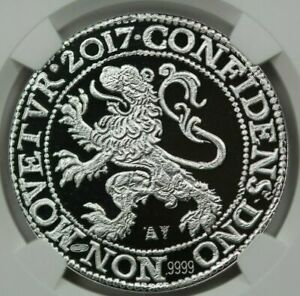 2017 LION DOLLAR ROYAL DUTCH MINT FIRST DAY OF ISSUE NGC PF70 ULTRA CAMEO