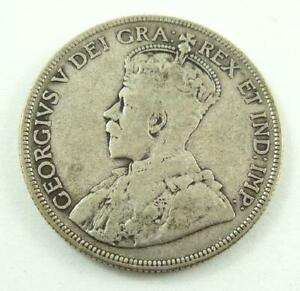 1936 CANADA 50 CENTS .925 SILVER COIN   KING GEORGE V