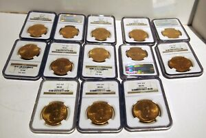 Click now to see the BUY IT NOW Price! MS 62  LOT OF 13 GOLD $20.00 US LIBERTY COINS 1922 1928 NGC